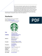 STARBUCKS Corporation is the Roaster and Retailer of Specialty Coffee in the World