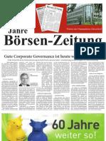 60 Jahre Börsen-Zeitung  -  Partner des Finanzplatzes Düsseldorf