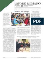 L´OSSERVATORE ROMANO. 11 Marzo 2012