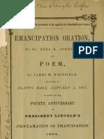 Ezra R. Johnson, And James M. Whitfield--Emancipation Oration (1867)