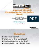 ITPRO Log Parser and Microsoft Exchange Server the Perfect Blend Ilse Van Criekinge