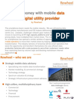 Rewheel - Making Money With Mobile Data as a Digital Utility Provider