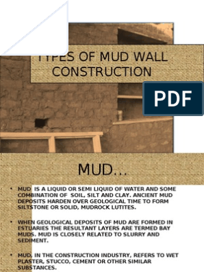 Types of Mud Wall Construction | Mud | Brick