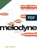 Manual Melodyne Editor English