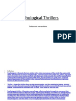 Psychological Thriller Conventions