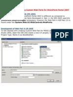Developing and Deploying Custom Web2007