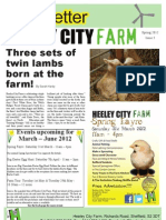HCF Newsletter Issue 5 Spring 2012