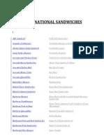 International Sandwiche Gopi