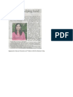 Rang De Co-founder Smita in article - Women's Day Deccan Chronicle 2012