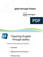 Teaching English Through Poetry for Archive