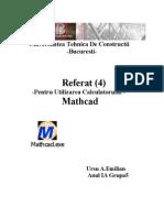Utilizarea Calculatorului - Mathcad