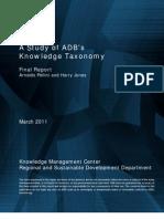 A Study of ADB's Knowledge Taxonomy