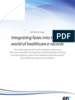 Integrating faxes Into today's world of healthcare records