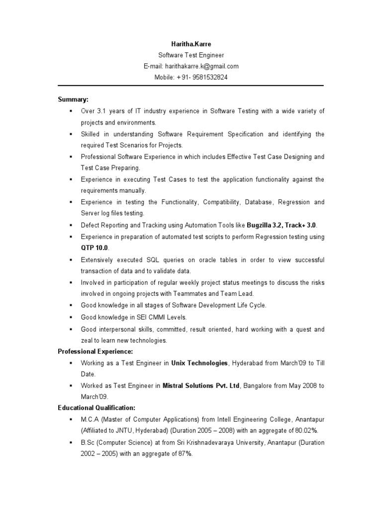 haritha testing engineer 31yr experience resume1