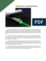Sejarah Dan Manfaat Sinar Laser Bagi Kehidupan