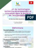 Transfert Technologie Environnementale Tunis 2010