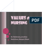 Values of Nursing Ppt
