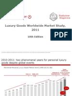 BAIN 2011 Luxury Market Study