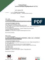 Szakmai fórum a Hamisítás Elleni Kereskedelmi Megállapodásról (ACTA)