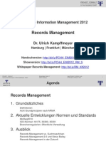 [DE] Records Management | Ulrich Kampffmeyer | EIM 2012