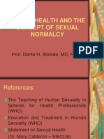 Sexual Health and the Concept of Sexual Normalcy
