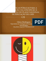 PNL PLANO NACIONAL DE EDUCAÇÃO 2011 2020