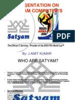 PRESENTATION ON SATYAM COMPUTER'S