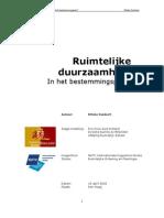 Duurzaamheid Rapport