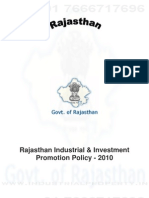 Rajasthan Industrial & Investment Promotion Policy 2010
