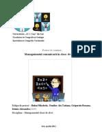 58964690 Managementul Comunicarii in Clasa de Elevi
