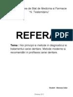 diagnosticul cariei dentare