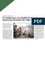 Camino Inca del Perú triunfa en Francia