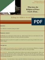 Killing for Allah to Avoid Hell