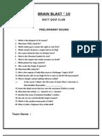 KVCT Quiz Prelims