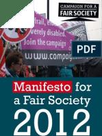 Manifesto for a Fair Society 2012