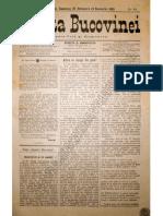 Gazeta Bucovinei # 84, Duminica 22 Octombrie (3 Noiembrie 1895