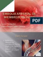 Embolia Arterial de Miembros Pelvicos 2010