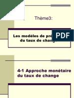 modèles taux de change