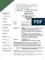Provider Council