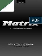 Matrix Pre Intermediate Tests+Key