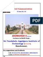 0 6th Sem Digital Communication Notes by Arunkumar.G,Lecturer in EC Dept, STJIT, Ranebennur
