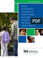 Parent Involvement Strategies in Urban Middle and High School in The