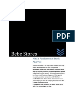 Bebe Stores Investment Analysis