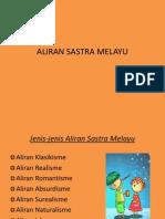 ALIRAN SASTRA MELAYU