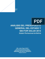 Julien Dupuy - Análisis presupuesto 2012 para el sector salud en Bolivia