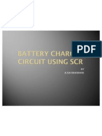 Battery Charger Ckt Using Scr