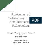 Sisteme Si Tehnologii de Prelucrare a Filetelor