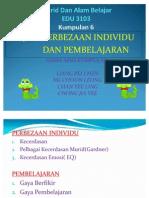 EDU 3103-Murid Dan Alam Belajar-Pembezaan Individu Dan Pembelajaran-(Kumpulan 6)