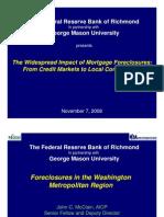 ForeclosuresintheWashingtonRegionGMUFederalReserve-Nov7