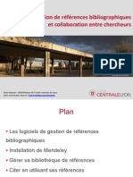 Mendeley Gestion References Bibliographiques